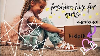 Kidpik Girls Fashion Box Unboxing and Outfits: Jeans, Dress Sandals, Purse