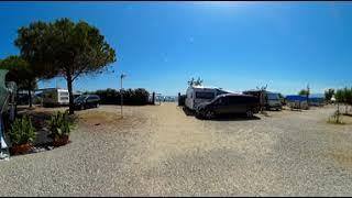 Video 360 della zona camper al Camping Onda Azzurra di Corigliano Calabro, Cosenza, in Calabria