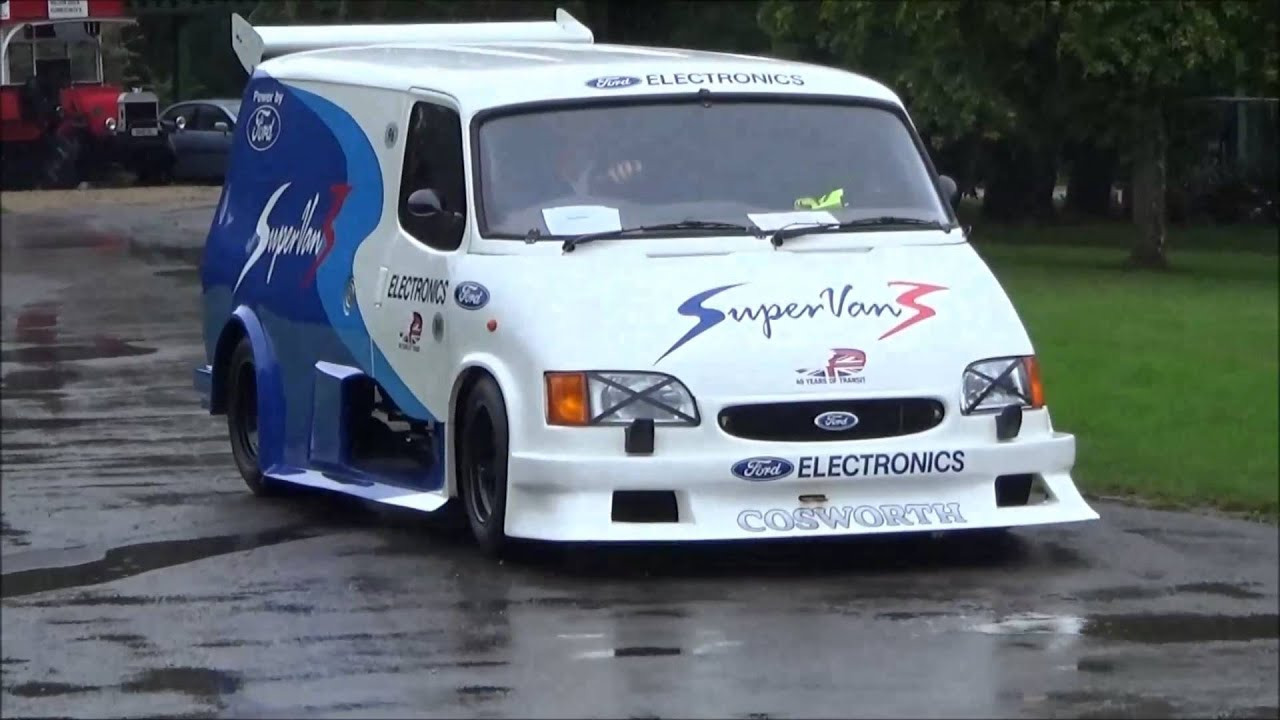 Ford Transit Van >> Ford Supervan Cosworth V8 Revs, Exhaust and Engine - YouTube