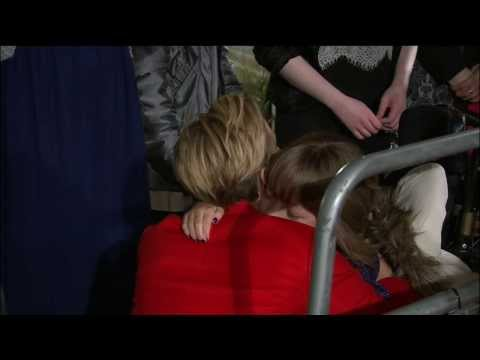 Jennifer Lawrence Hugs Her Fan At 'The Hunger Games: Catching Fire' London Premiere