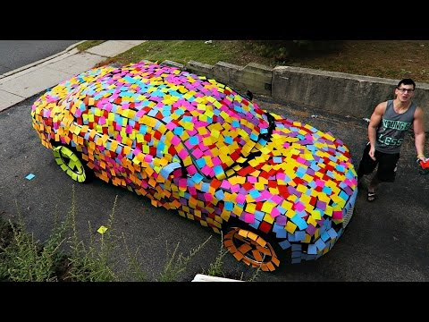 STICKY NOTES CAR PRANK