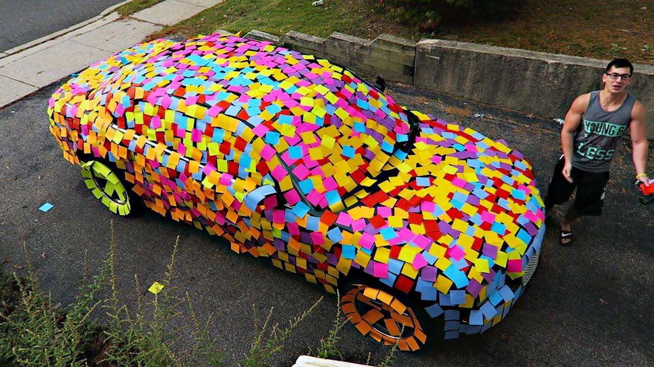 Sticky Notes On Car Paint