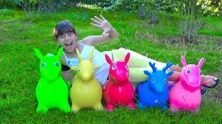 Kids Learn Colors And Playing Hide And Seek With Toy Horses Educational Activities Videos for Kids