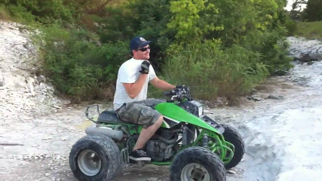 ATV Rock Climbing and Trail Riding - Kawasaki Mojave 250 - YouTube