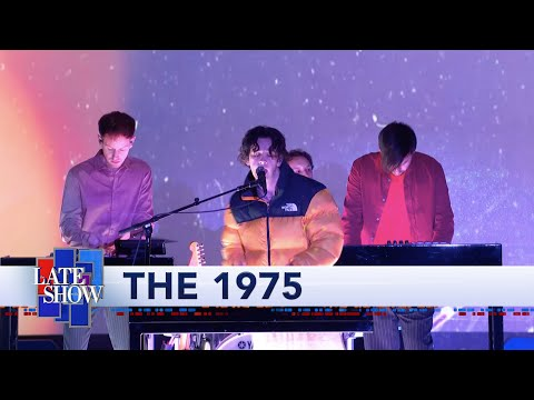 Matt Healy Wore a Skirt and Puffer Jacket for the 1975's 'Colbert' Performance