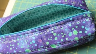 Zippered Box Pouch Tutorial- How To Install A Zipper