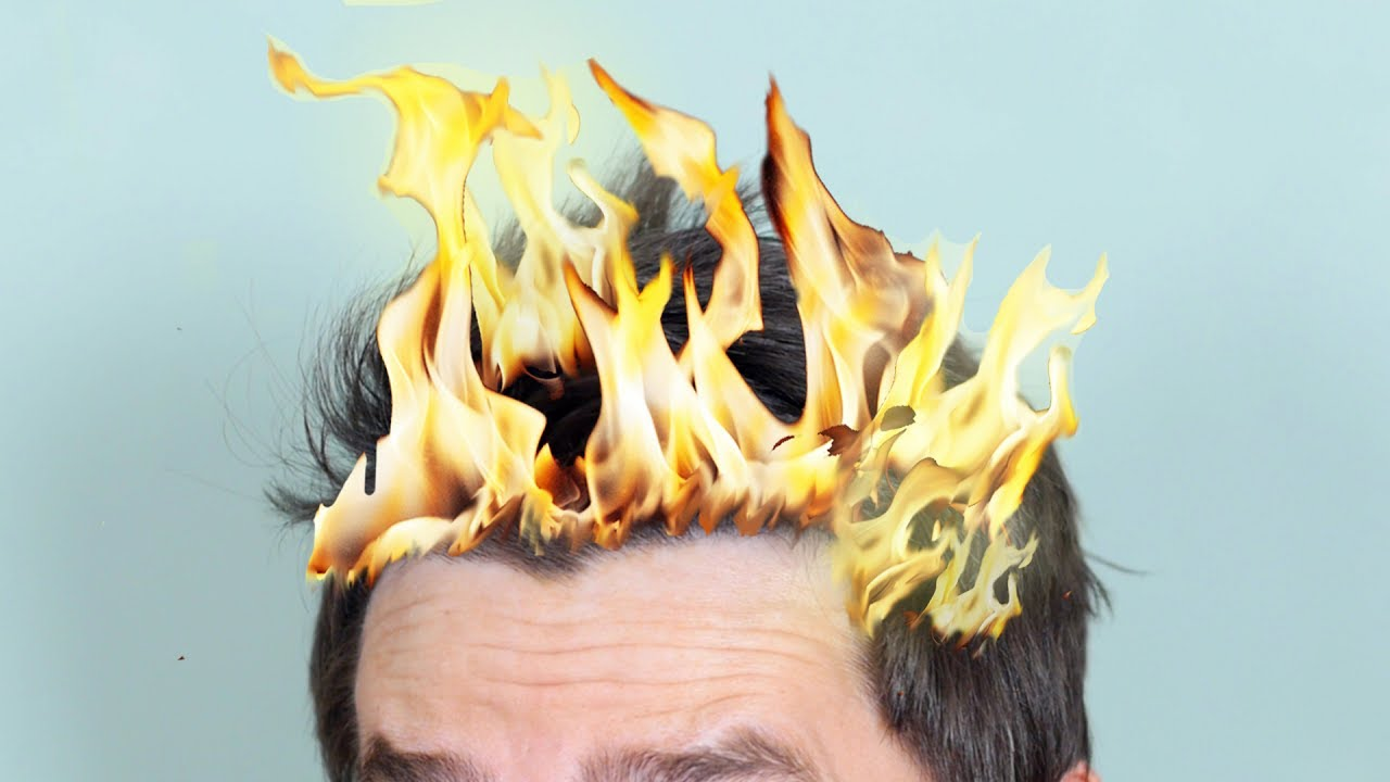 Image result for hair on fire