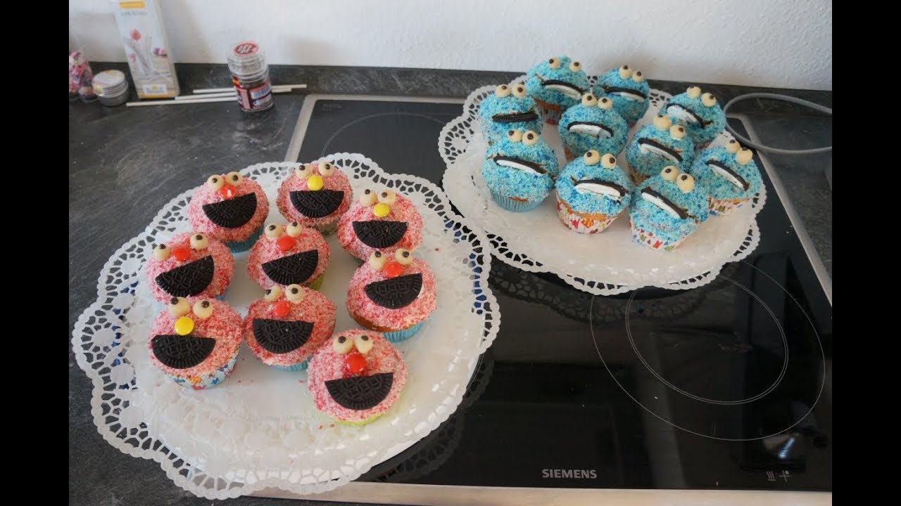 Sesamstrasse Cupcakes Elmo Krumelmonster Tutorial Deutsch Hd