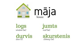 Learn Latvian - Day 15 (house and yard)