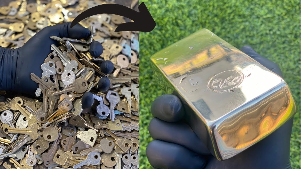 Download Bulk Key Meltdown - Huge Golden Mirrored Bar- ASMR Metal Melting - BigStackD - Trash To Treasure