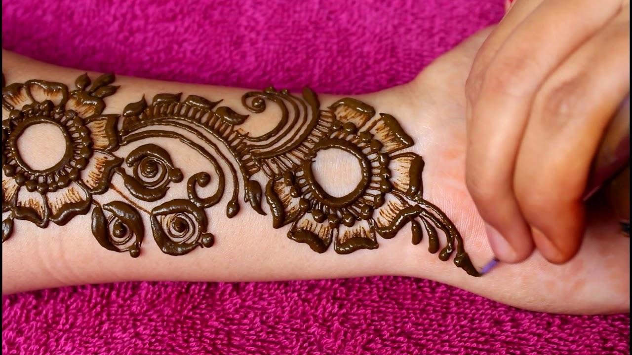 Beautiful latest heavy arabic mehndi designs for hands |2018|