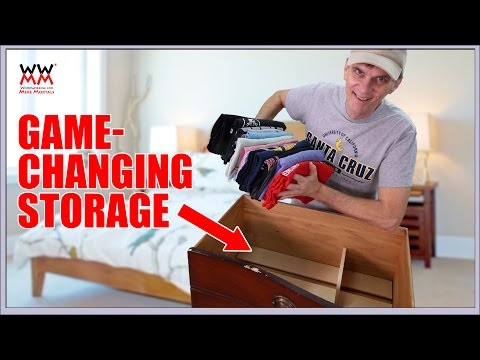 Improve the Clothes Storage in Your Dresser Drawers With This Cool System