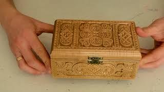 Обзор деревянной шкатулки С02