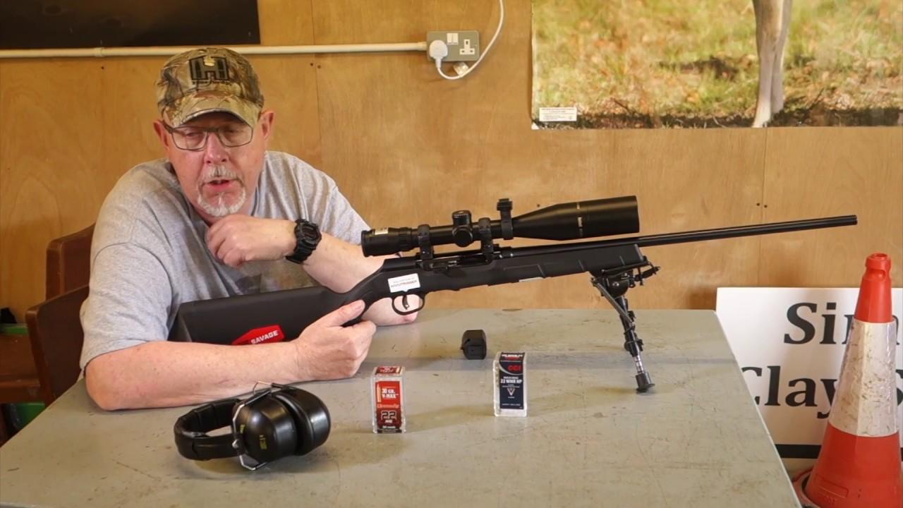 savage arms a22 magnum semi auto rifle youtube