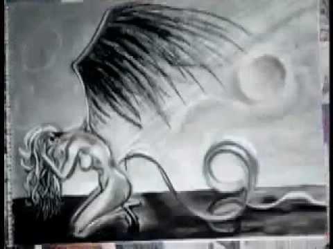 Fallen angel drawing time lapse youtube thecheapjerseys Gallery
