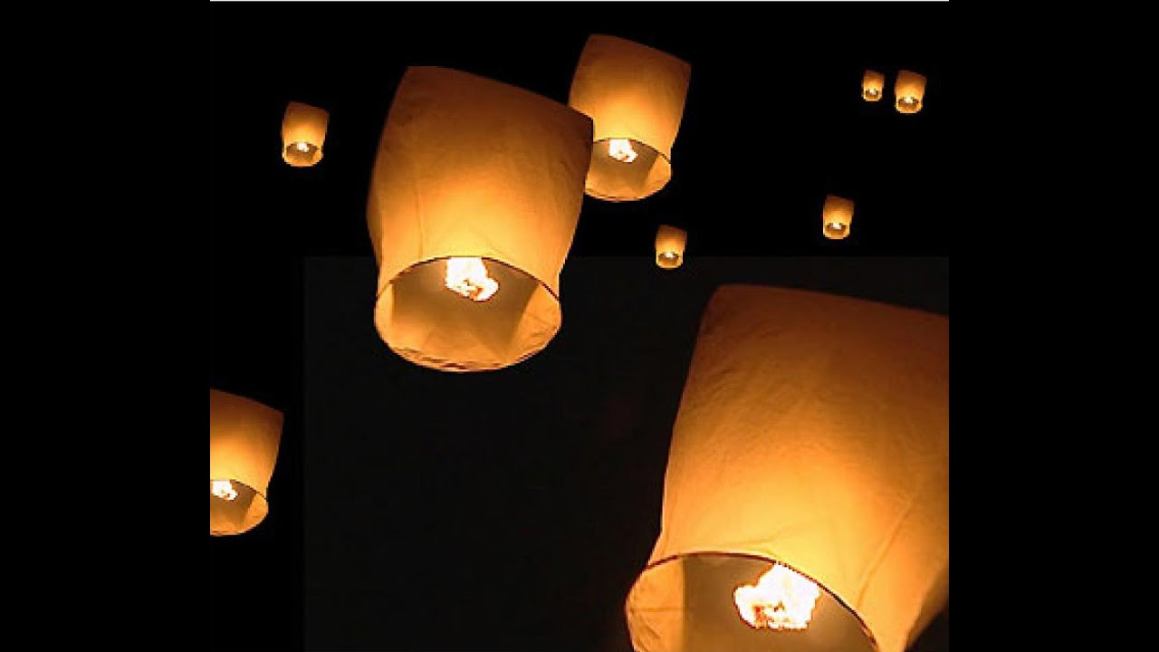 How to light a floating Chinese lantern - YouTube