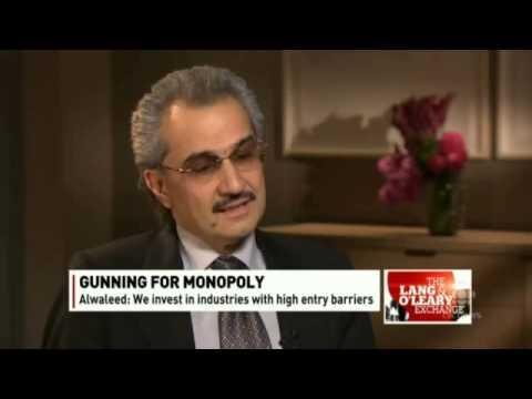 RECORDING OF: CBC's Amanda Lang interviews Saudi Prince Alwaleed bin Talal