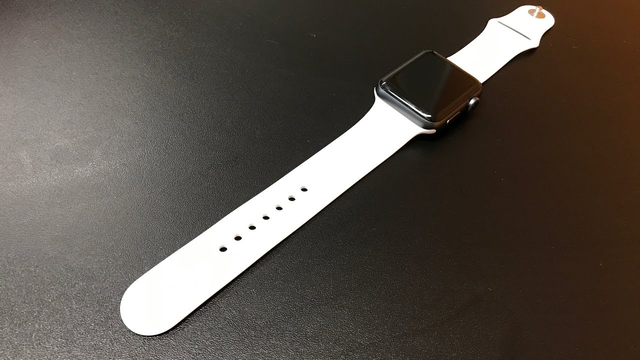 Unboxing apple watch white sport band looks on space gray 42mm unboxing apple watch white sport band looks on space gray 42mm thecheapjerseys Image collections