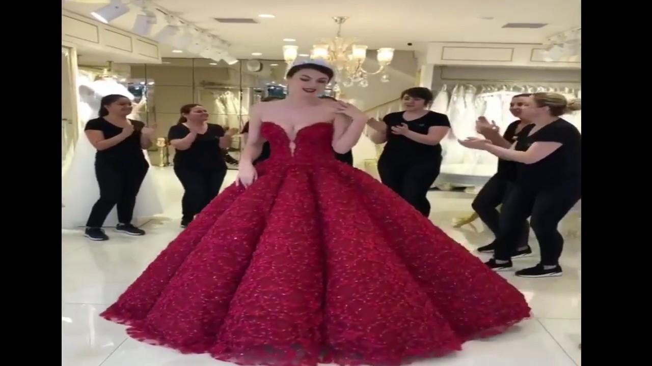 a6d5e55e0566c أفضل و اجمل فستان سهرة وزفاف تركي 2018