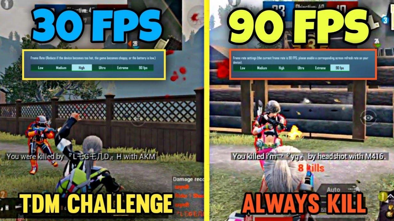 😵30 FPS VS 90 FPS (TDM CHALLENGE)⚡    FPS MATTERS IN PUBG MOBILE?    ECHO GAMING