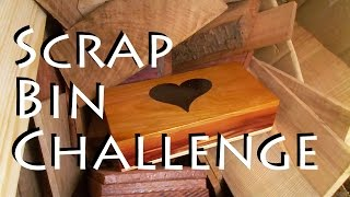 Scrap Bin Challenge -  Scroll Saw Box With Epoxy Inlay - Woodworking
