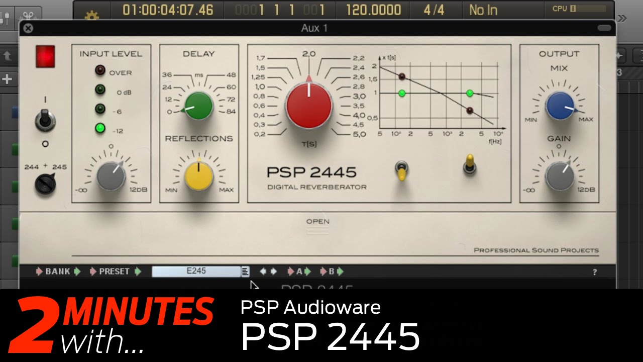 PSP Audioware PSP 2445 VST/AU plugin in action