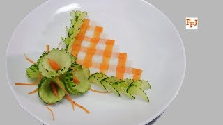Cover images One Brilliant Food Decoration Idea with Cucumber, Carrot & Radish