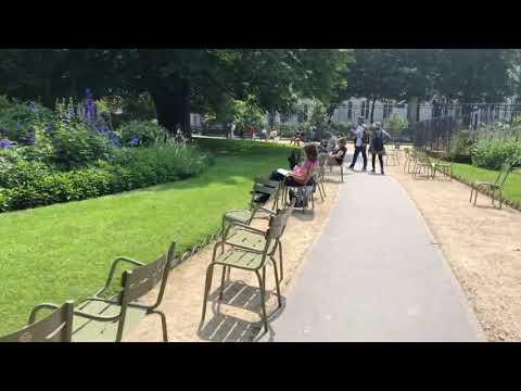 海外女性ひとり旅 リュクサンブール公園は椅子がたくさんです2018年6月9日