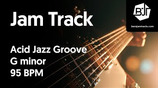 Acid Jazz Groove Jam Track in G minor - BJT #7