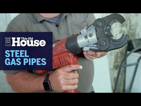 How to Connect Steel Gas Pipes | This Old House