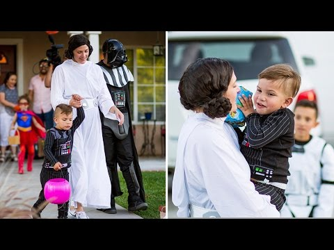 Community Gives 5-Year-Old Boy With Rare Illness a Halloween-Themed Birthday