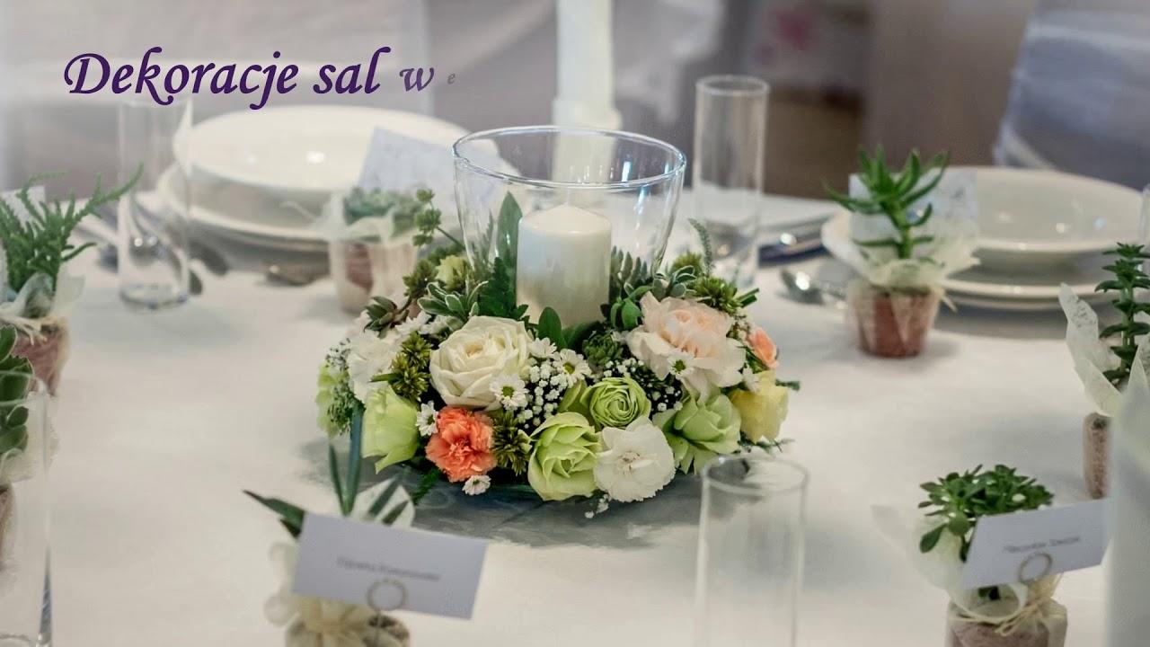 Wiązanki ślubne Dekoracja Sal Weselnych Florysta łódź Usługi