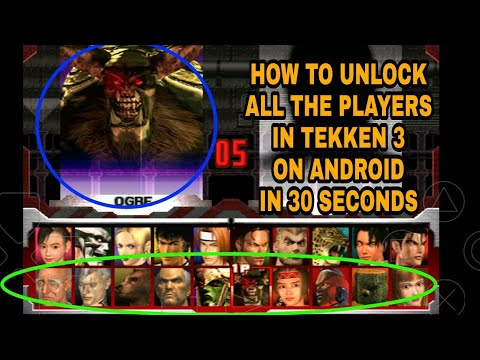 How To Unlock All Players In Tekken 3 Android Youtube