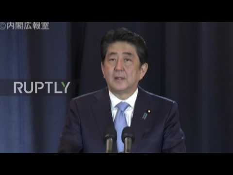 Argentina: Abe says Japanese government 'prepared as possible' for potential tsunami