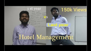 Life of a HOTEL MANAGEMENT student ||1st year vs Last year - Hotel Management series - S01E02