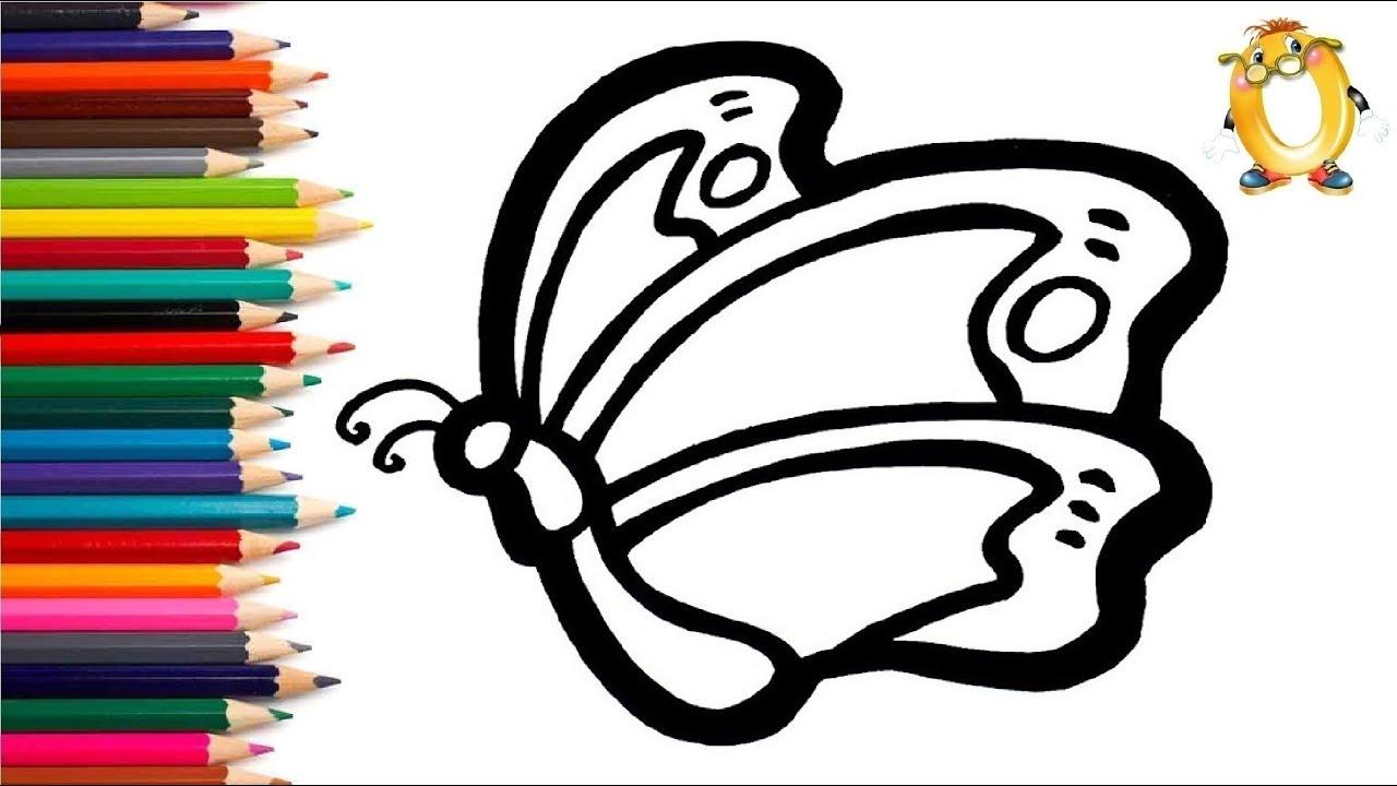 Раскраска для детей ЛЕТАЮЩАЯ БАБОЧКА. Мультик - Раскраска ...
