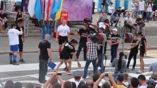 Михаил Кокляев - присед со штангой 302,5 кг БЕЗ РУК!!!