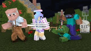 Monster School Zombie Life 4 Vs Herobrine Grandpa Minecraft Animation Youtube