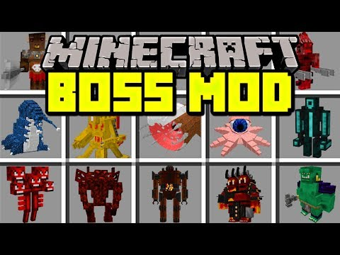 Minecraft BOSS MOD! | SURVIVE AGAINST OVERPOWERED BOSS BATTLES! | Modded Mini-Game