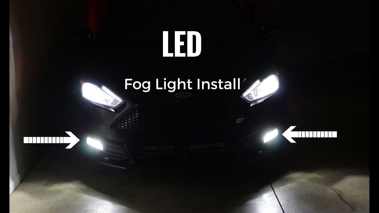 Ford Focus Bumper Diagram Led Fog Light Install Ford Focus St Youtube