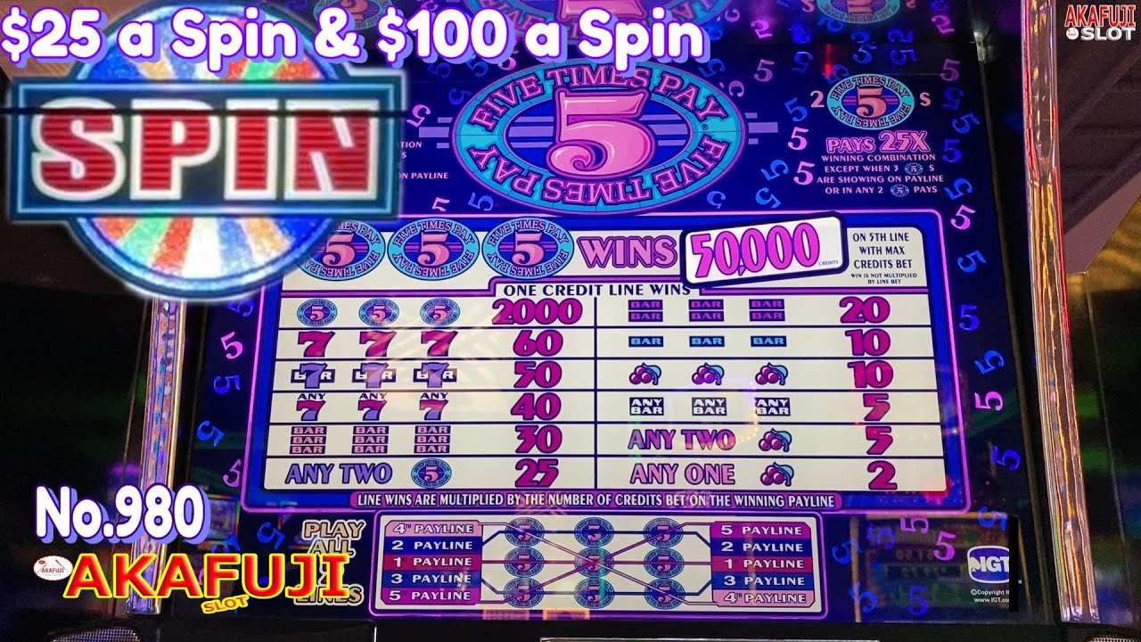 High Limit Jackpot✨ Five Times Pay Denomination & Wheel of Fortune Double Diamond $100 Slot 赤富士スロット