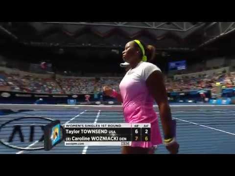 Taylor Townsend v Caroline Wozniacki highlights (1R) - Australian Open 2015