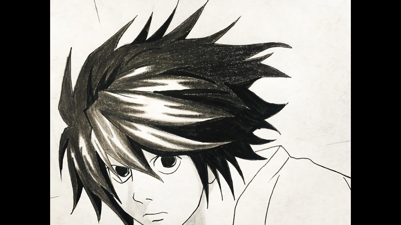 How To Draw L Death Note Youtube