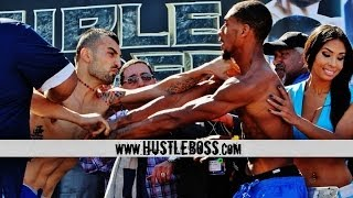 EXCLUSIVE: Vanes Martirosyan and Demetrius Andrade nearly come to blows at their weigh-in