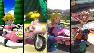 Evolution of Peach in Mario Kart (1992-2019)