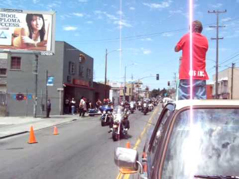 Hells Angels funeral procession for Deakon Proudfoot