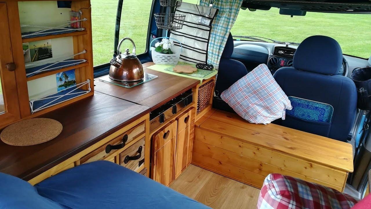 Beautiful 2002 Fiat Doblo Micro Camper Van Natural Wood Conversion