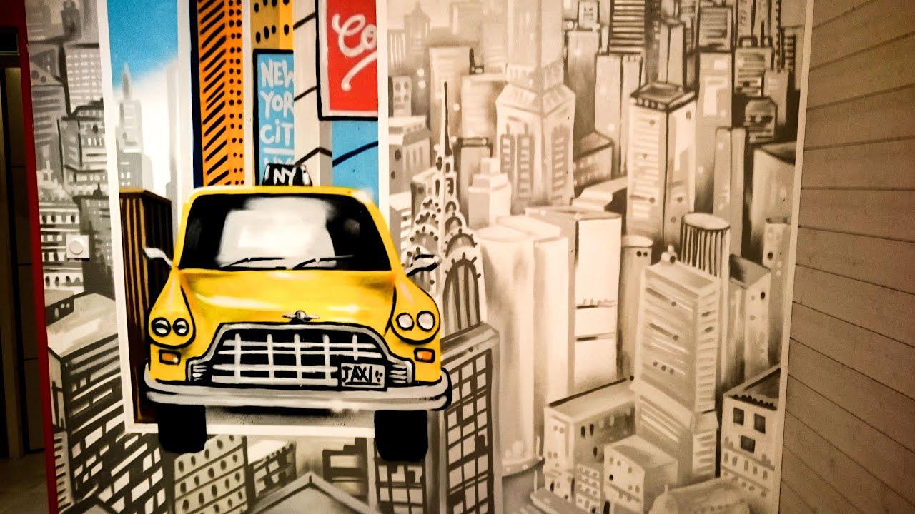 Chambre Sur Le Thème De New York décoration graffiti chambre sur le thème taxi et la ville de new york