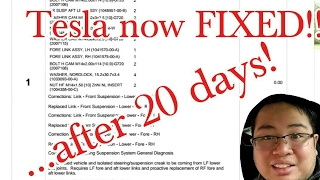 Unbelievable service... 20 days to fix my Tesla!