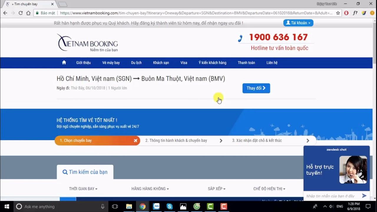 VietnamBooking.com: Đặt vé máy bay đi Buôn Mê Thuột giá rẻ tại đại lý vé máy bay ☎️ 1900 636 167